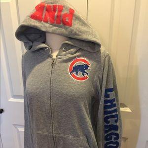 VS PINK misses L Chicago Cubs hoodie w bling logo